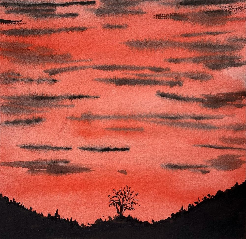 30 Day Watercolor Skies Challenge - image 20 - student project