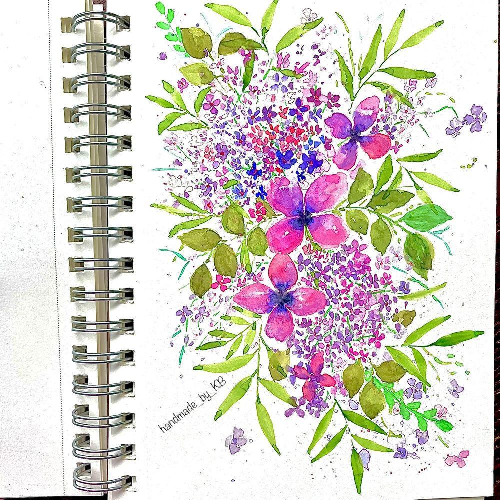 Loose floral composition - image 1 - student project