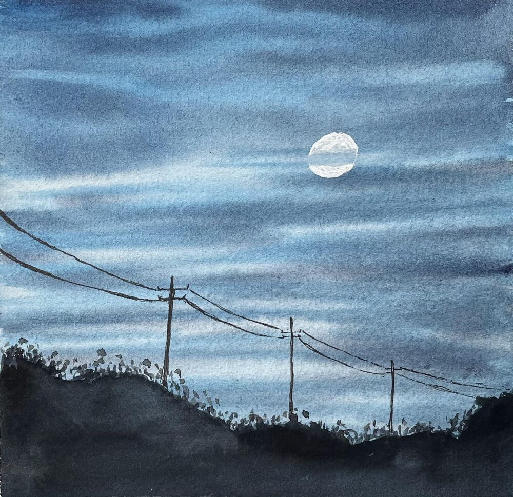 30 Day Watercolor Skies Challenge - image 17 - student project
