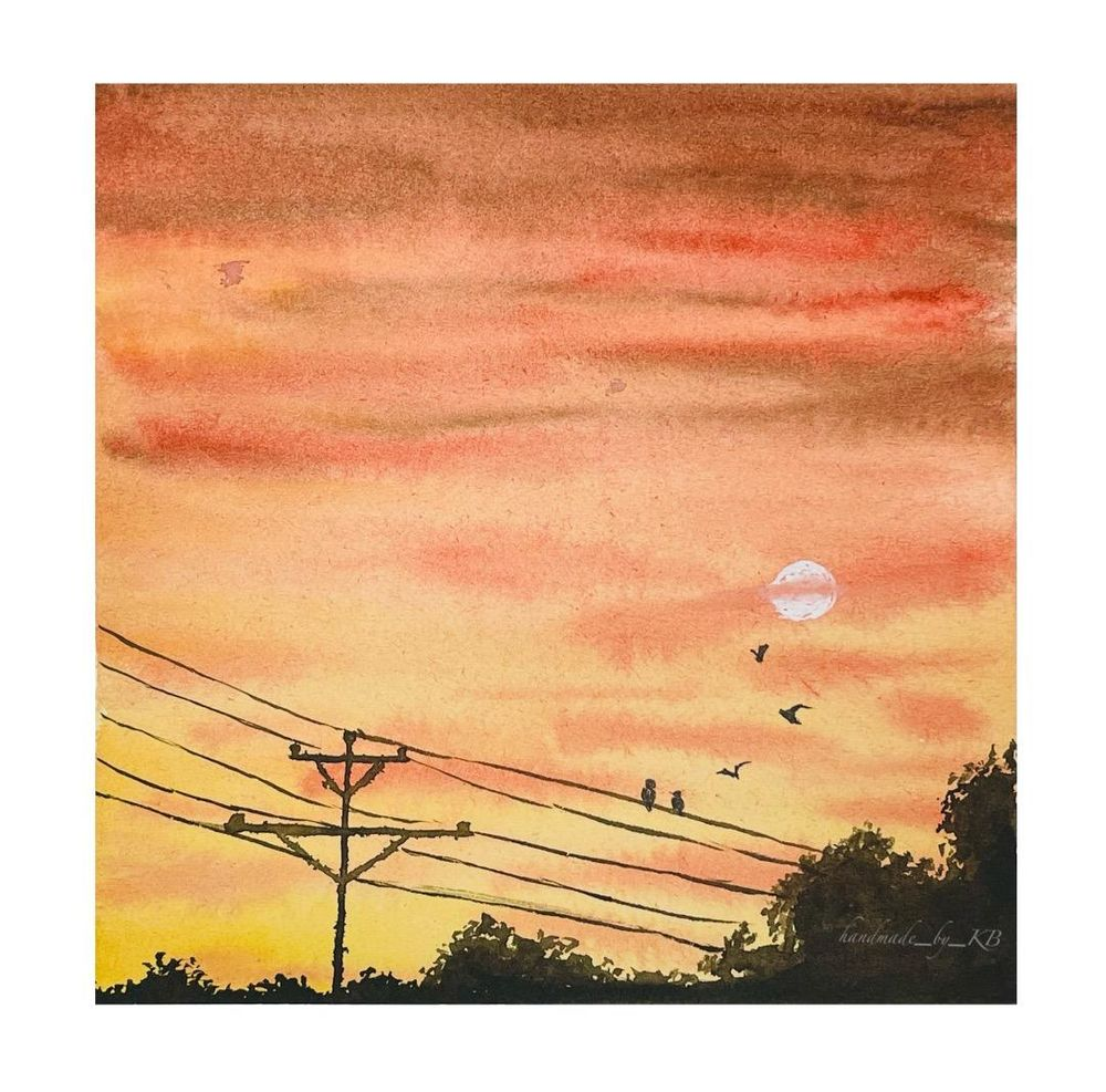 30 Day Watercolor Skies Challenge - image 6 - student project