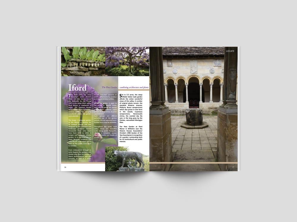 Graphic Design assignment - Magazine Spread - Iford's Peto Garden - image 1 - student project