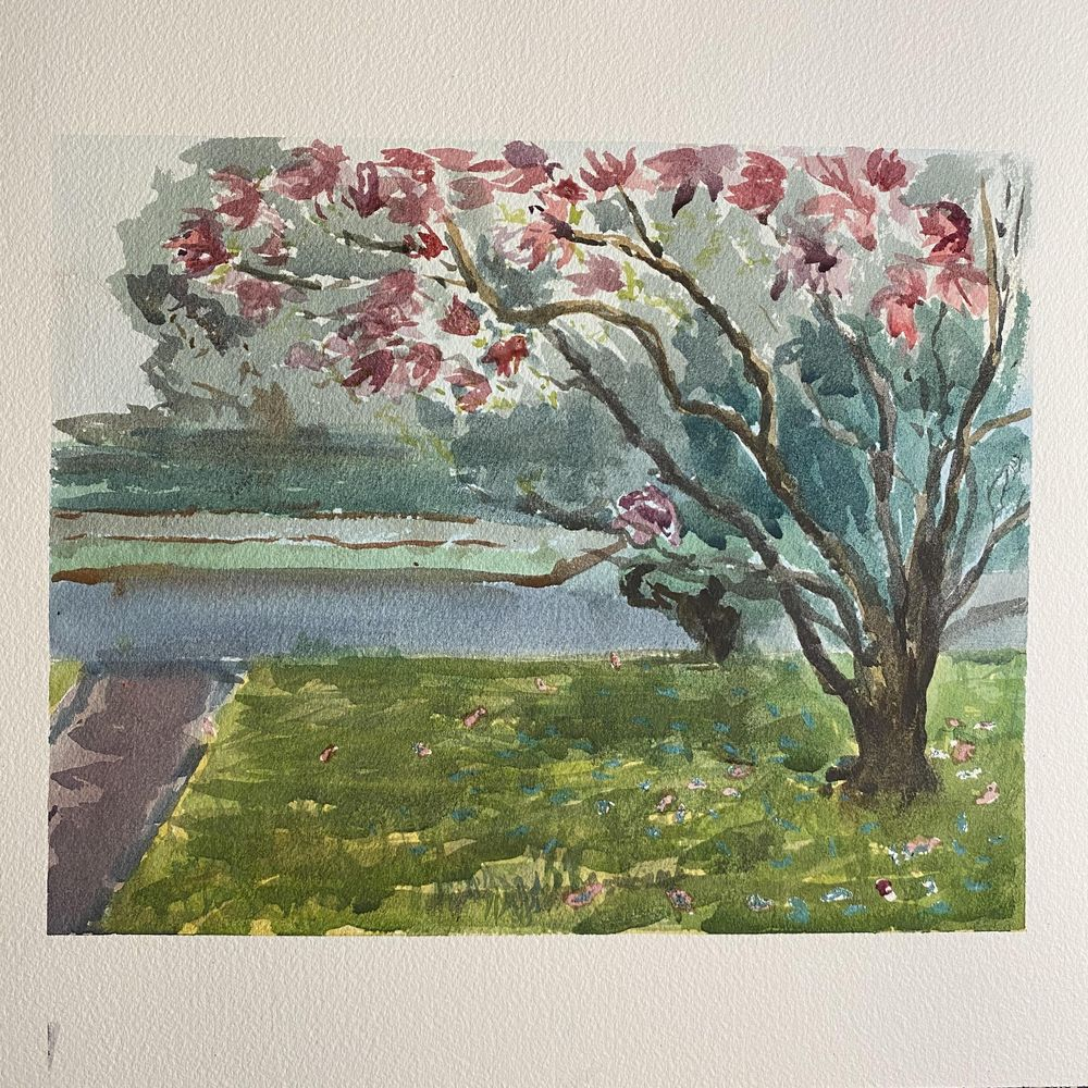 Plein Air Watercolor - image 2 - student project