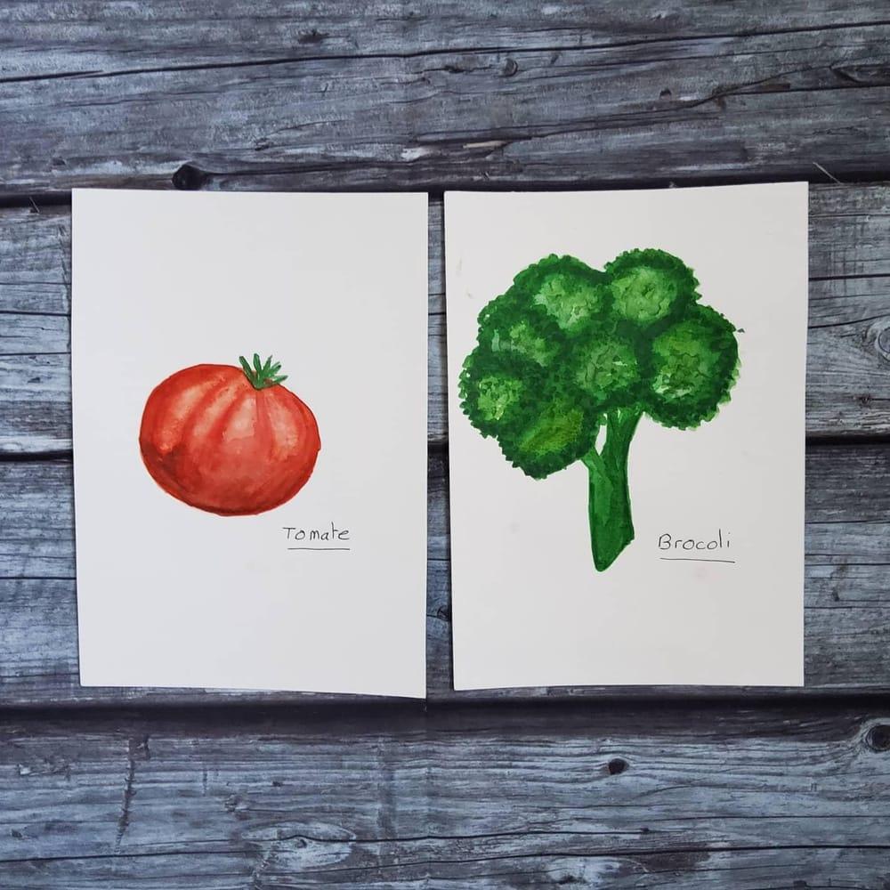 Je peins ... des légumes. - image 1 - student project