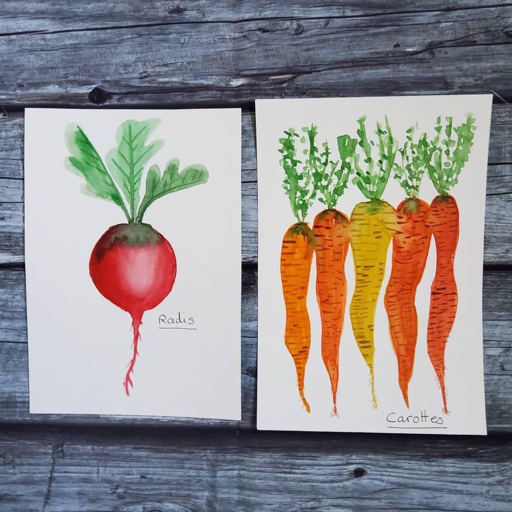 Je peins ... des légumes. - image 3 - student project