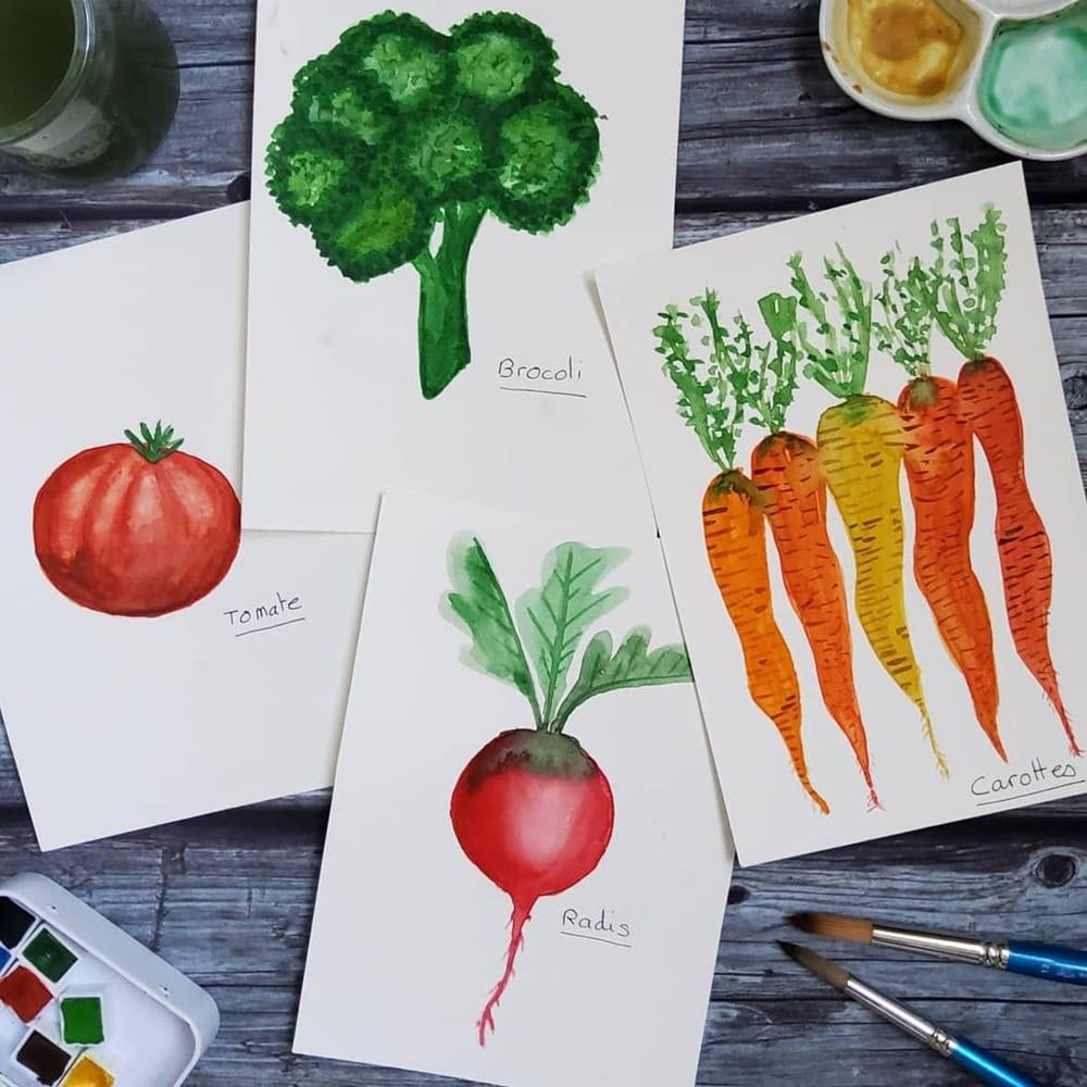 Je peins ... des légumes. - image 2 - student project
