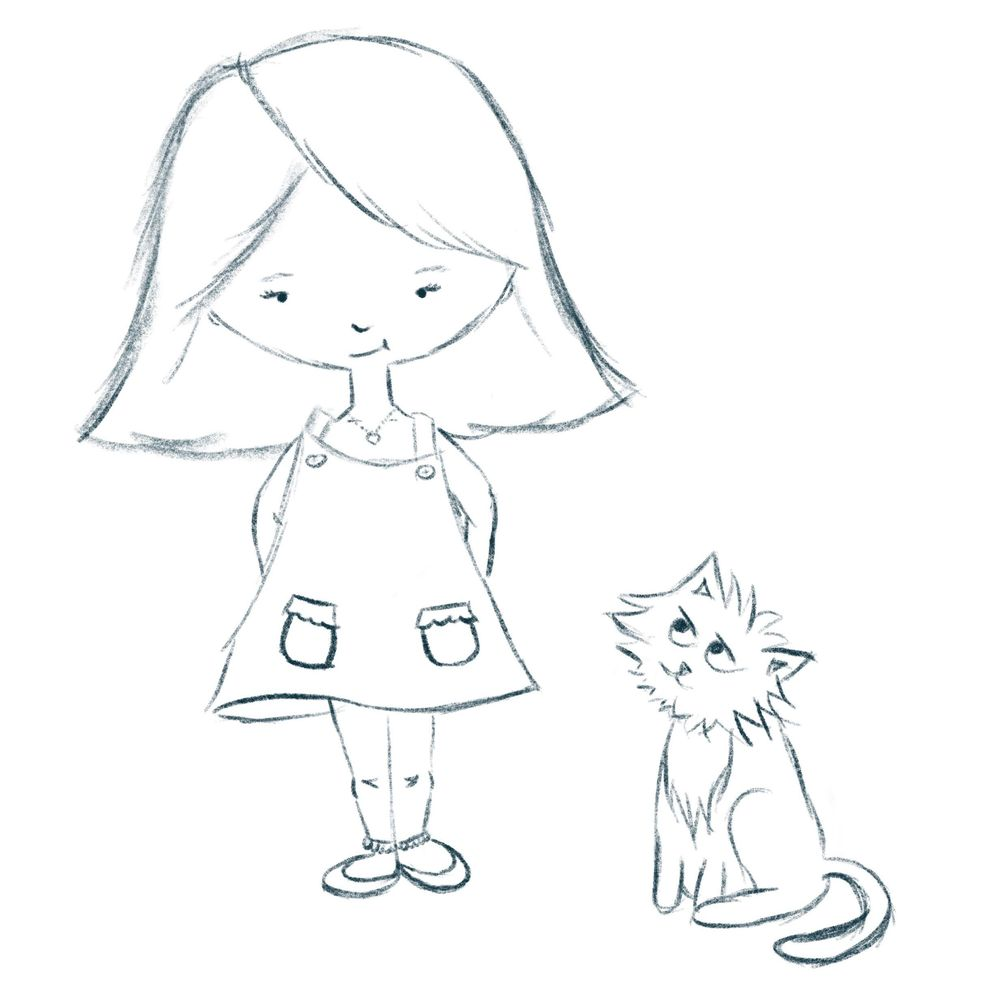 Girl and Cat - image 2 - student project