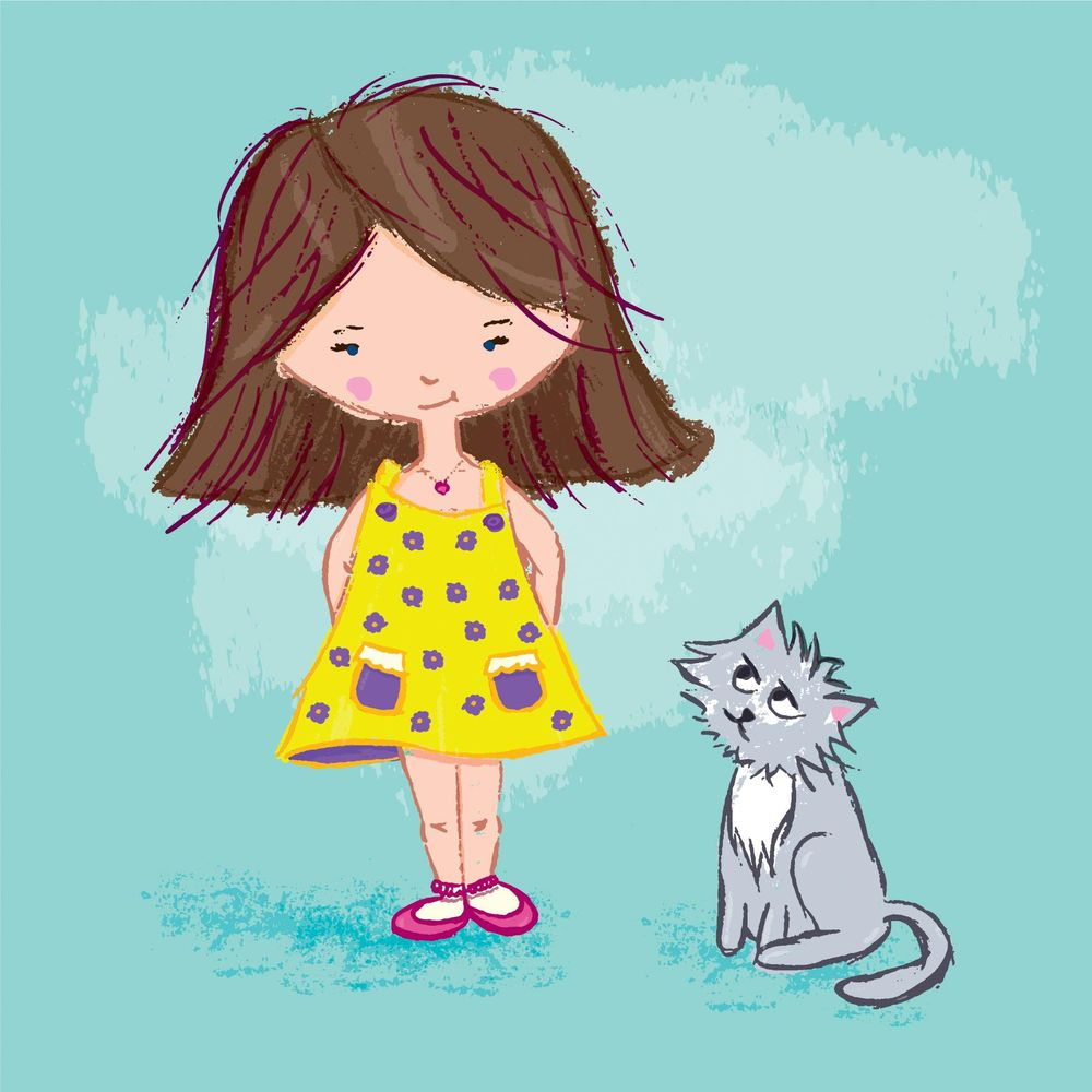 Girl and Cat - image 1 - student project