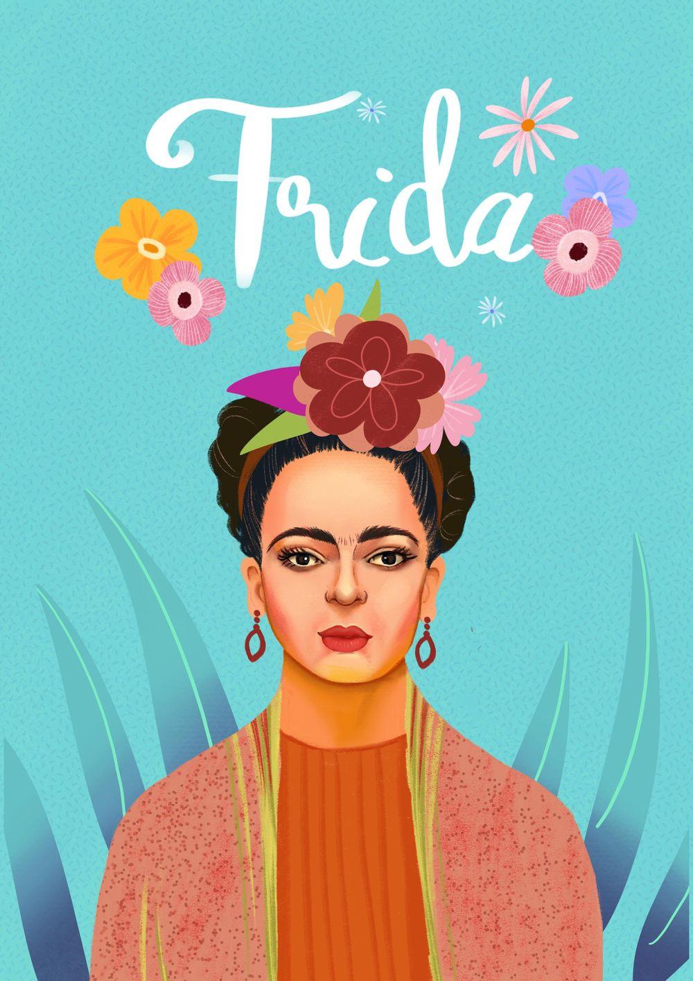 Frida Kahlo Portrait - image 1 - student project