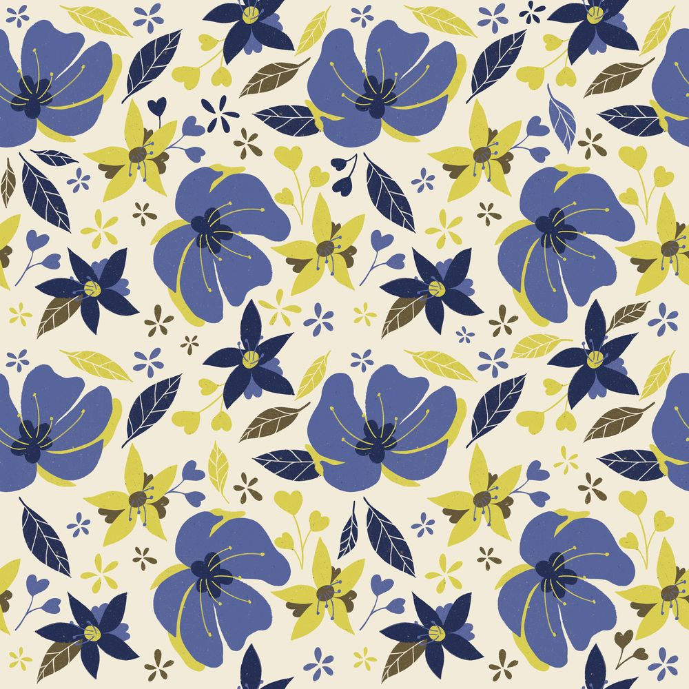 Flower pattern x8 - image 2 - student project
