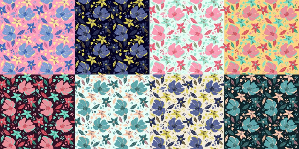 Flower pattern x8 - image 1 - student project