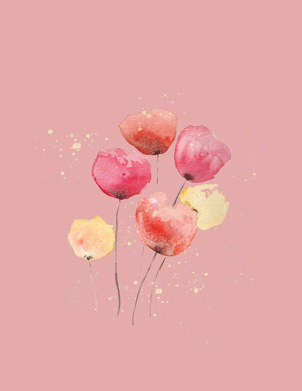 Cheerful flowers - image 1 - student project