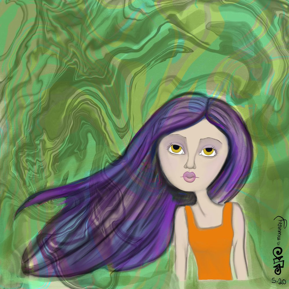 Whimsical girl art - image 1 - student project