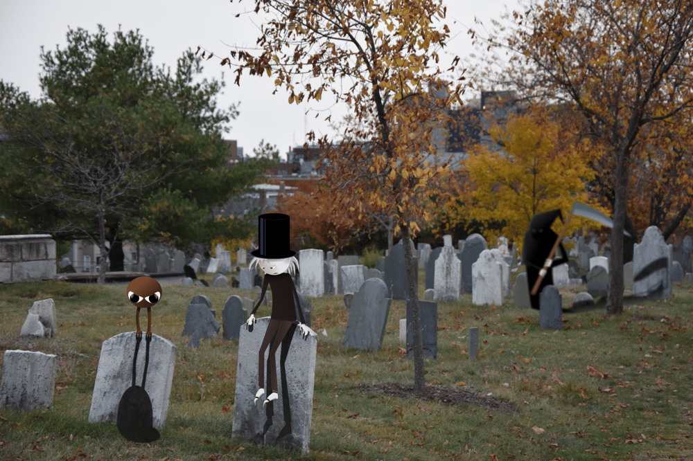 Sad elf in cemetary - image 1 - student project