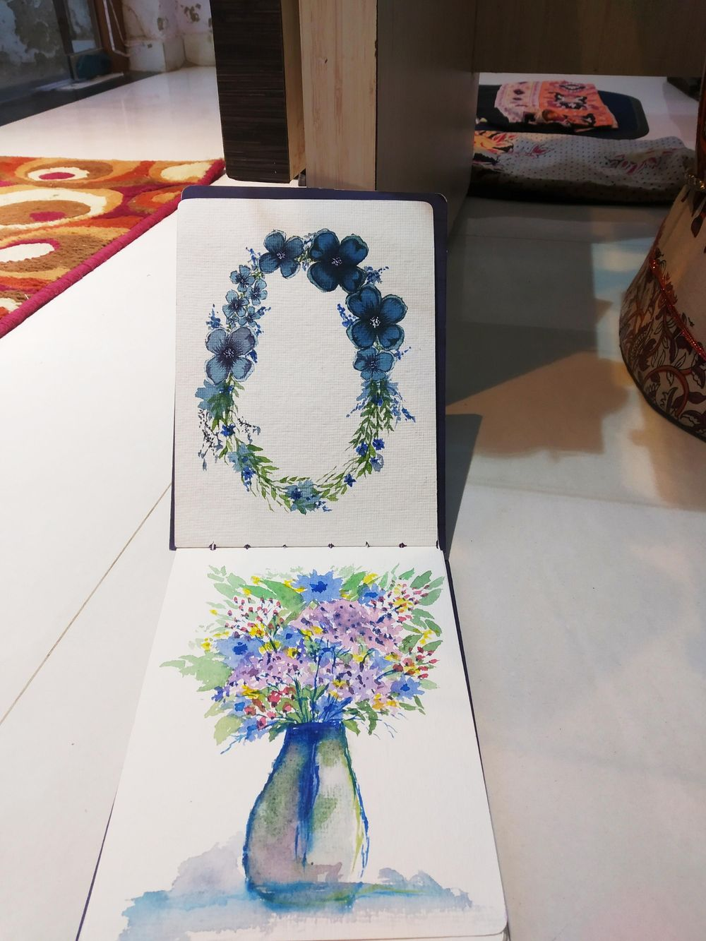 watercolor floral master class-loose florals, fillers and leaves - image 3 - student project