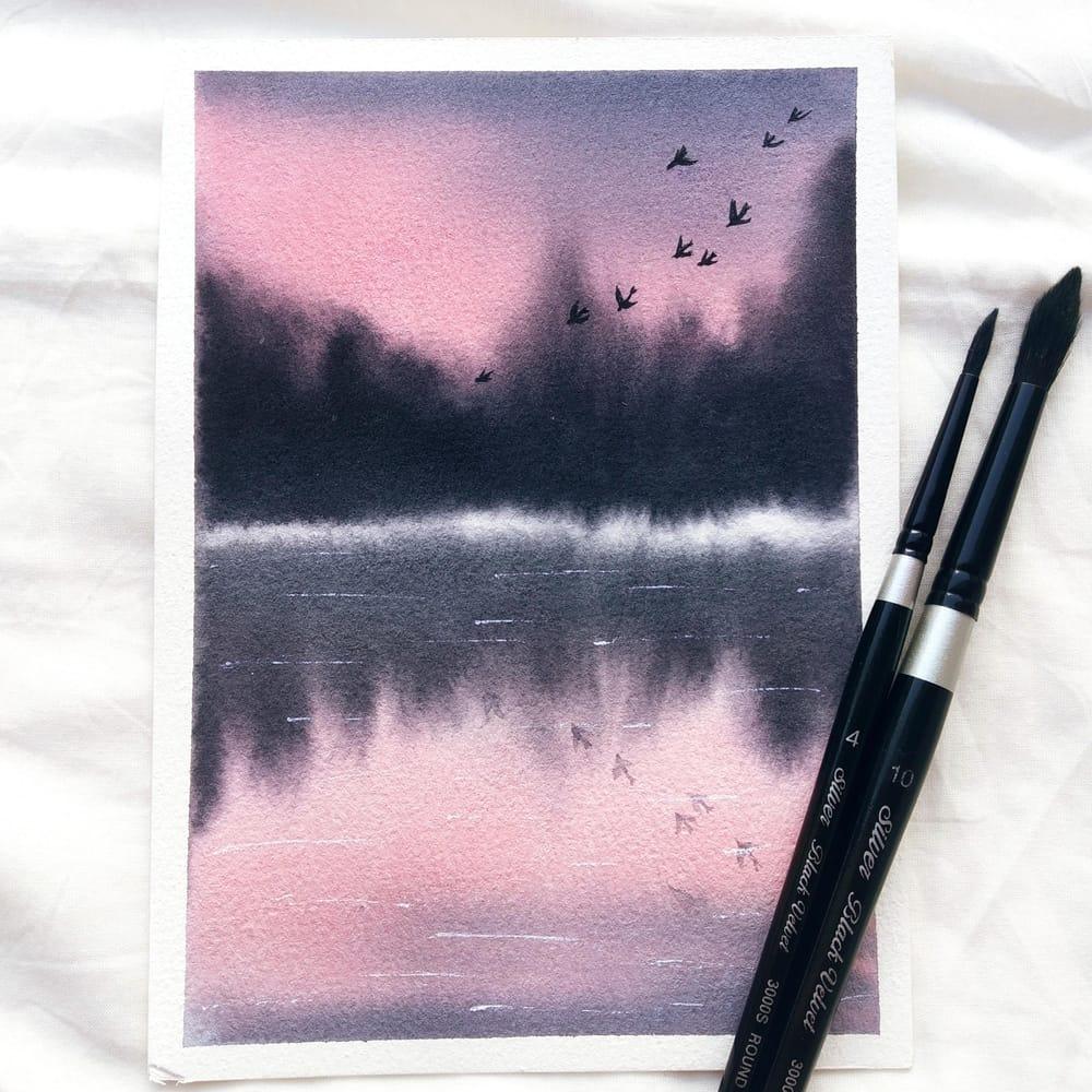 Serene landscapes - image 7 - student project