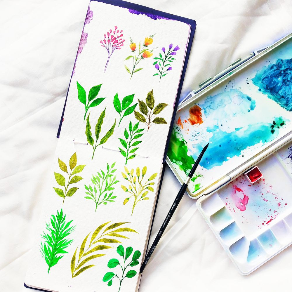 watercolor floral master class-loose florals, fillers and leaves - image 1 - student project