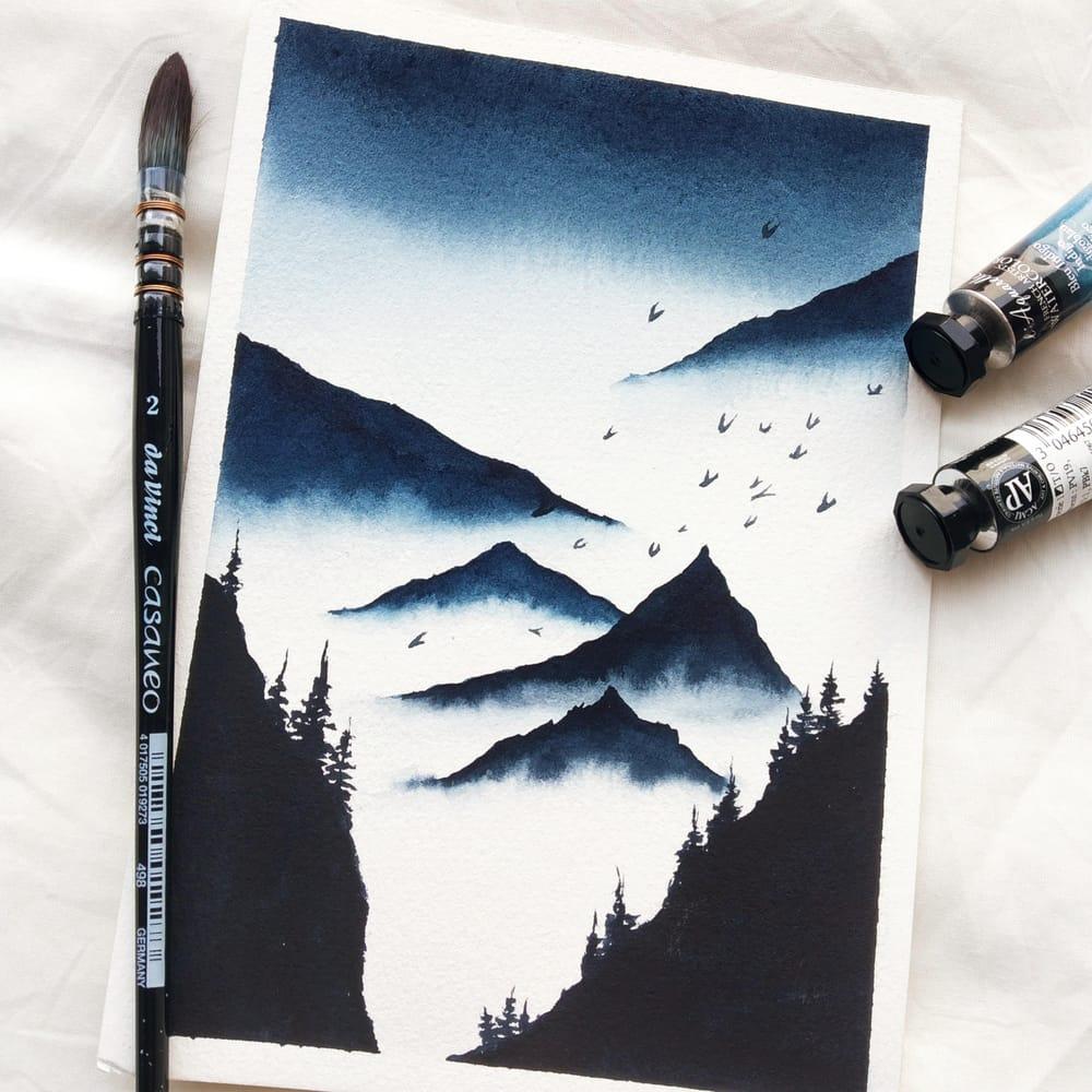 Serene landscapes - image 4 - student project