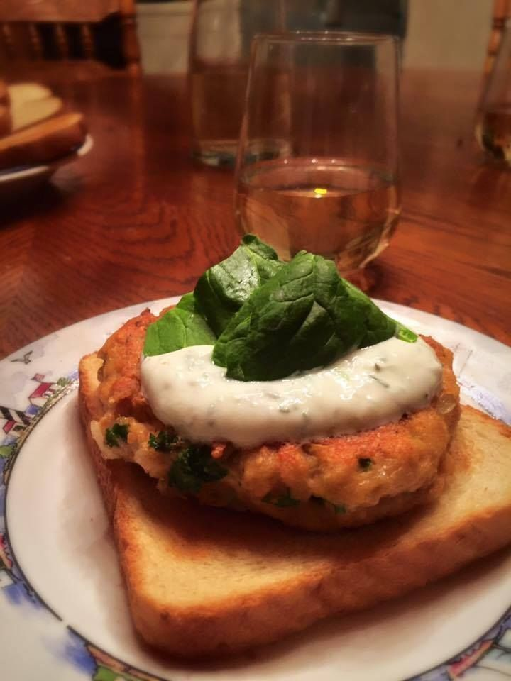 Goat Soup, Chicken Caesar Salad, and a Salmon Dill Burger on Toast - image 3 - student project