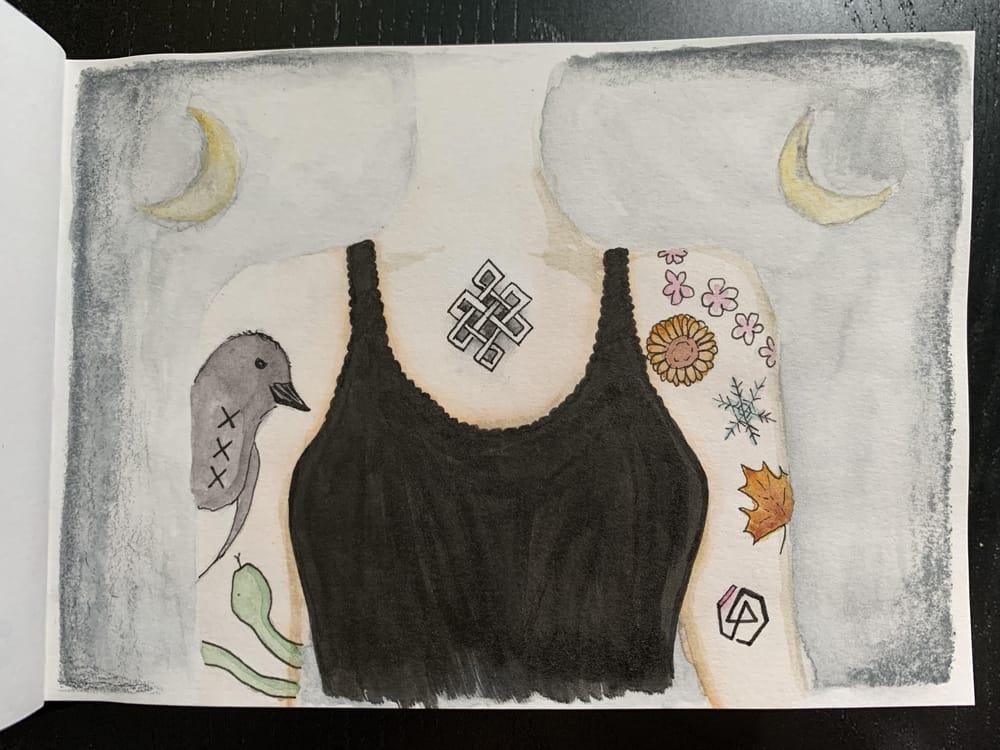 7 sketchbook prompts - image 2 - student project