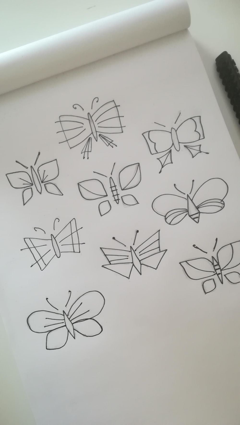 Drawing butterflies - image 1 - student project