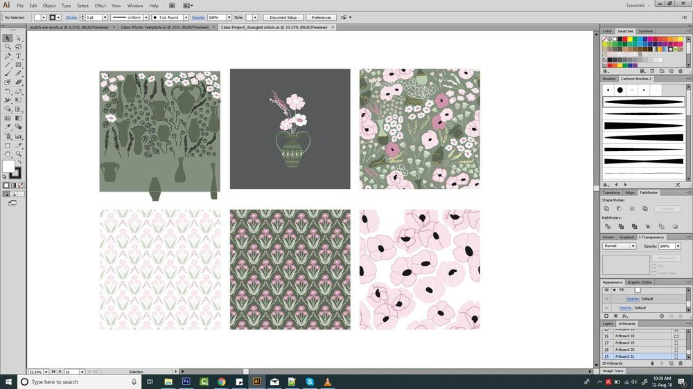 Modern Floral Art Deco Pattern - image 3 - student project