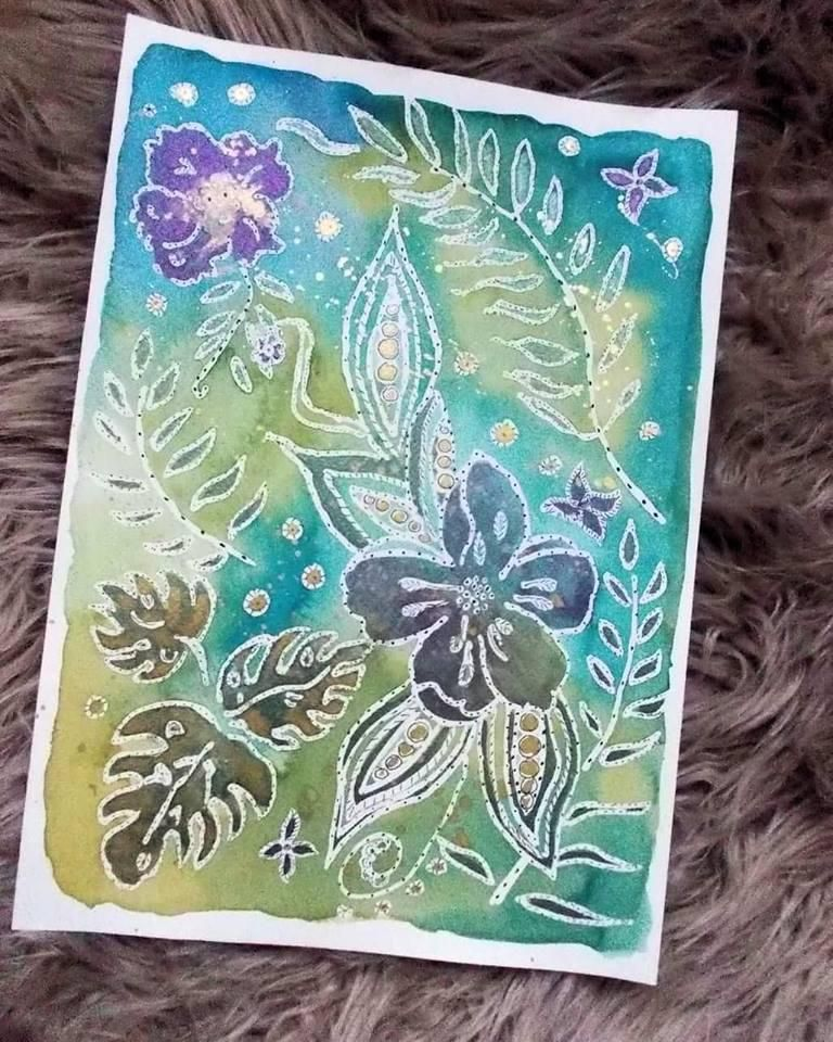 Watercolor resist - image 1 - student project