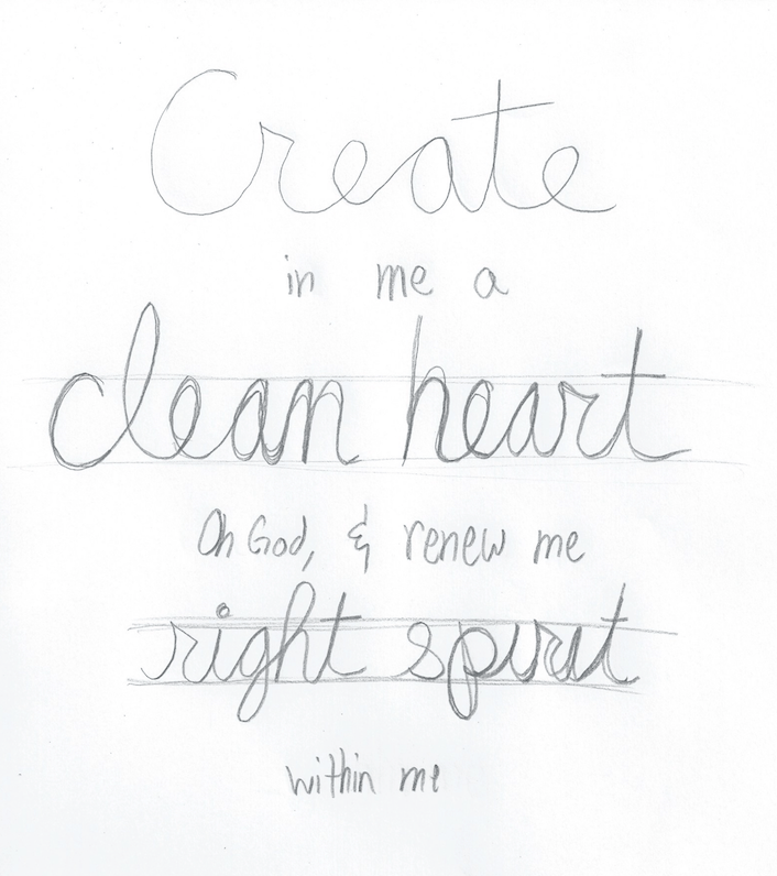Psalm 51:10 - image 1 - student project