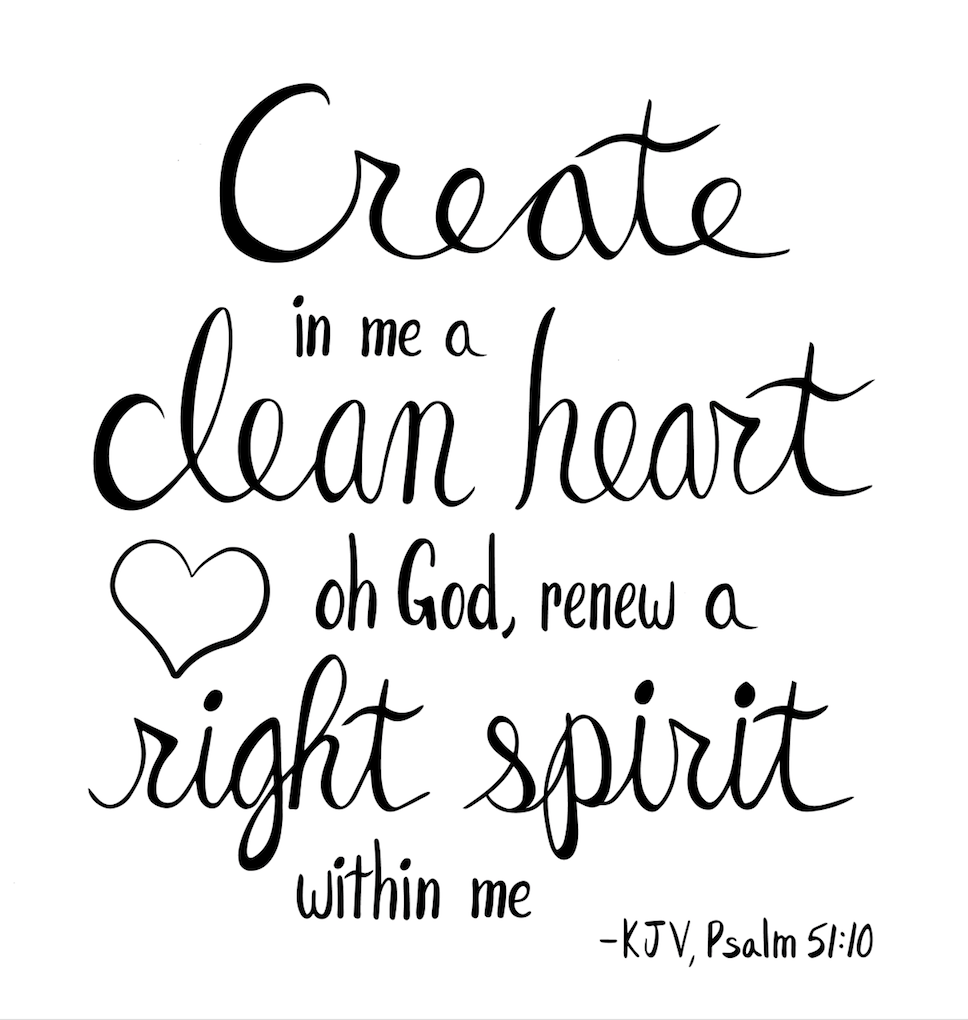 Psalm 51:10 - image 3 - student project