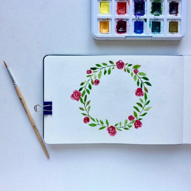 The first floral wreath - image 1 - student project