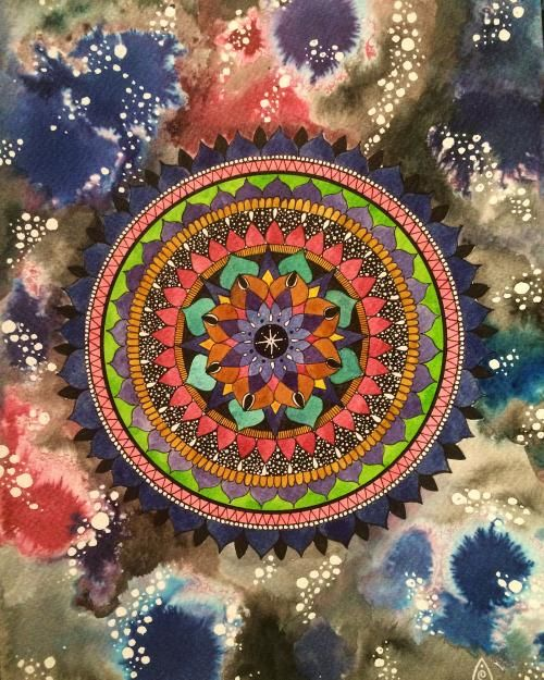 Monochrome Mushroom with Pulse and Precision Exercises, Magical Mandalas and Mushroom Galaxies :) - image 5 - student project