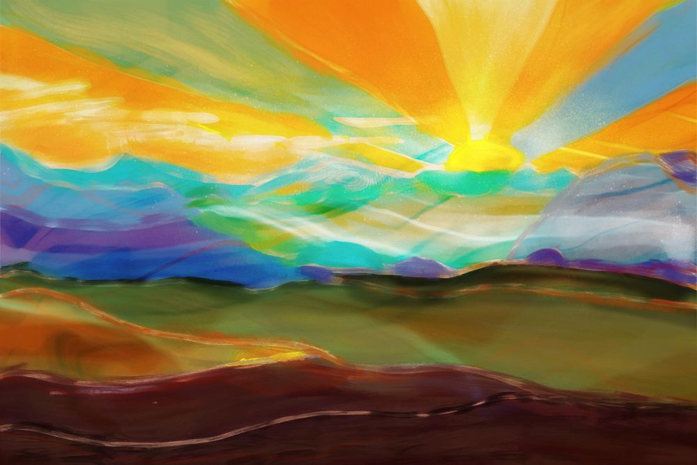Abstract Painting in Procreate - image 1 - student project