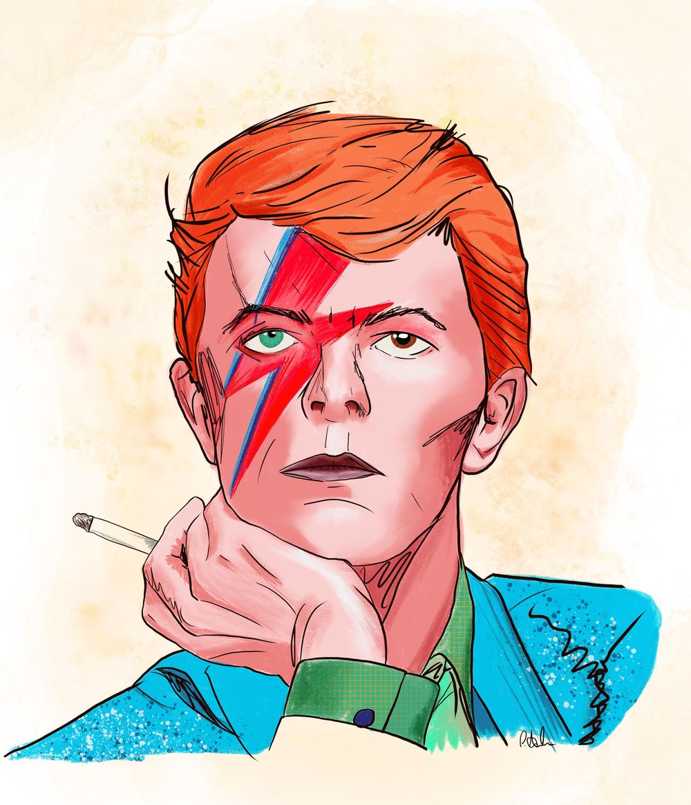 David Bowie - image 1 - student project