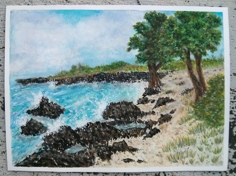 Watercolor Seascape Kona - image 1 - student project