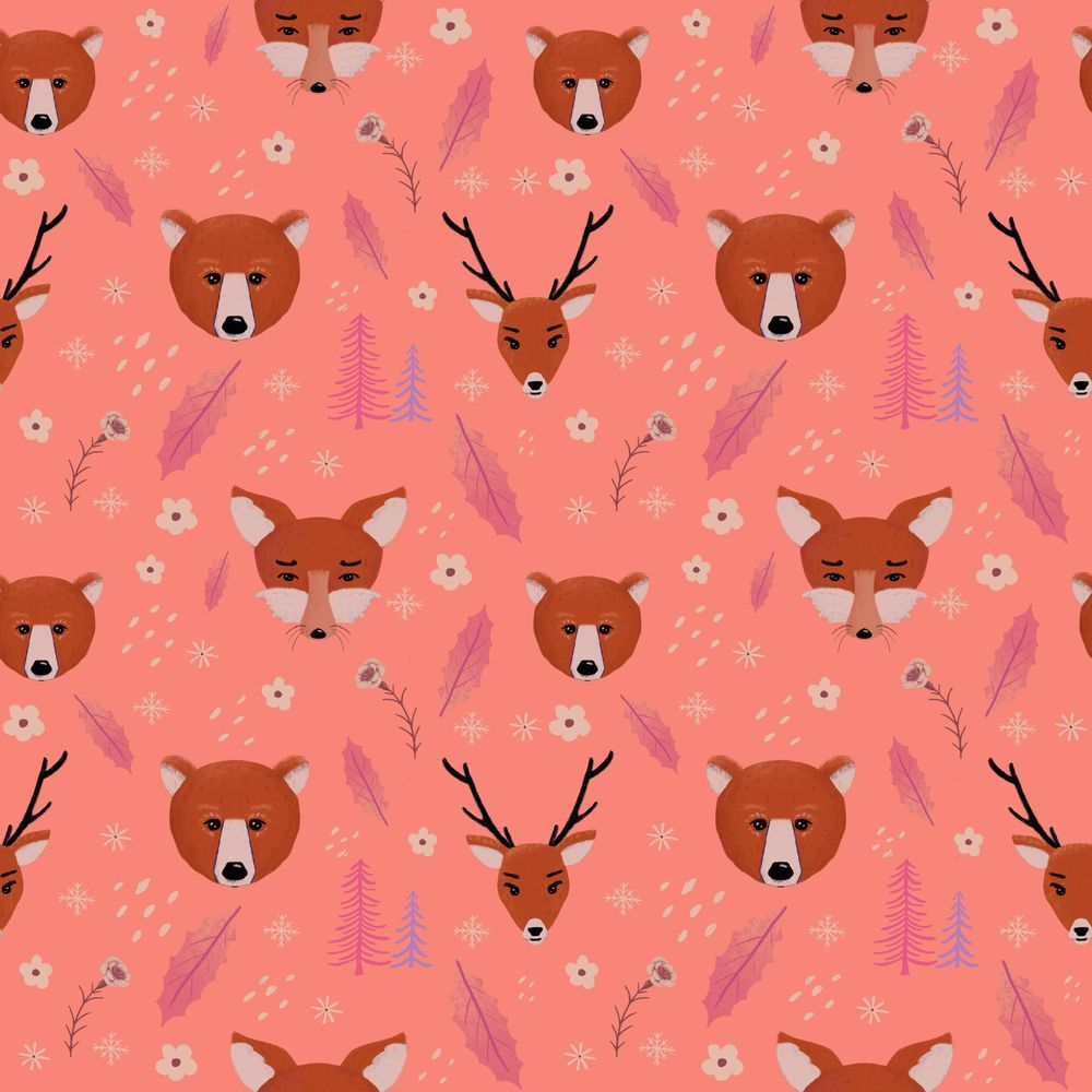 Seamless forest pattern - image 1 - student project