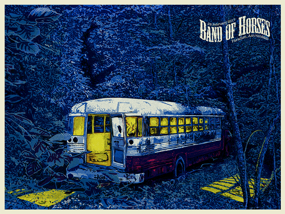 """Rock Poster for """"Band of Horses"""" - image 4 - student project"""