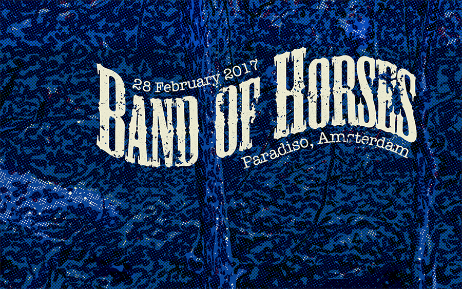 """Rock Poster for """"Band of Horses"""" - image 3 - student project"""