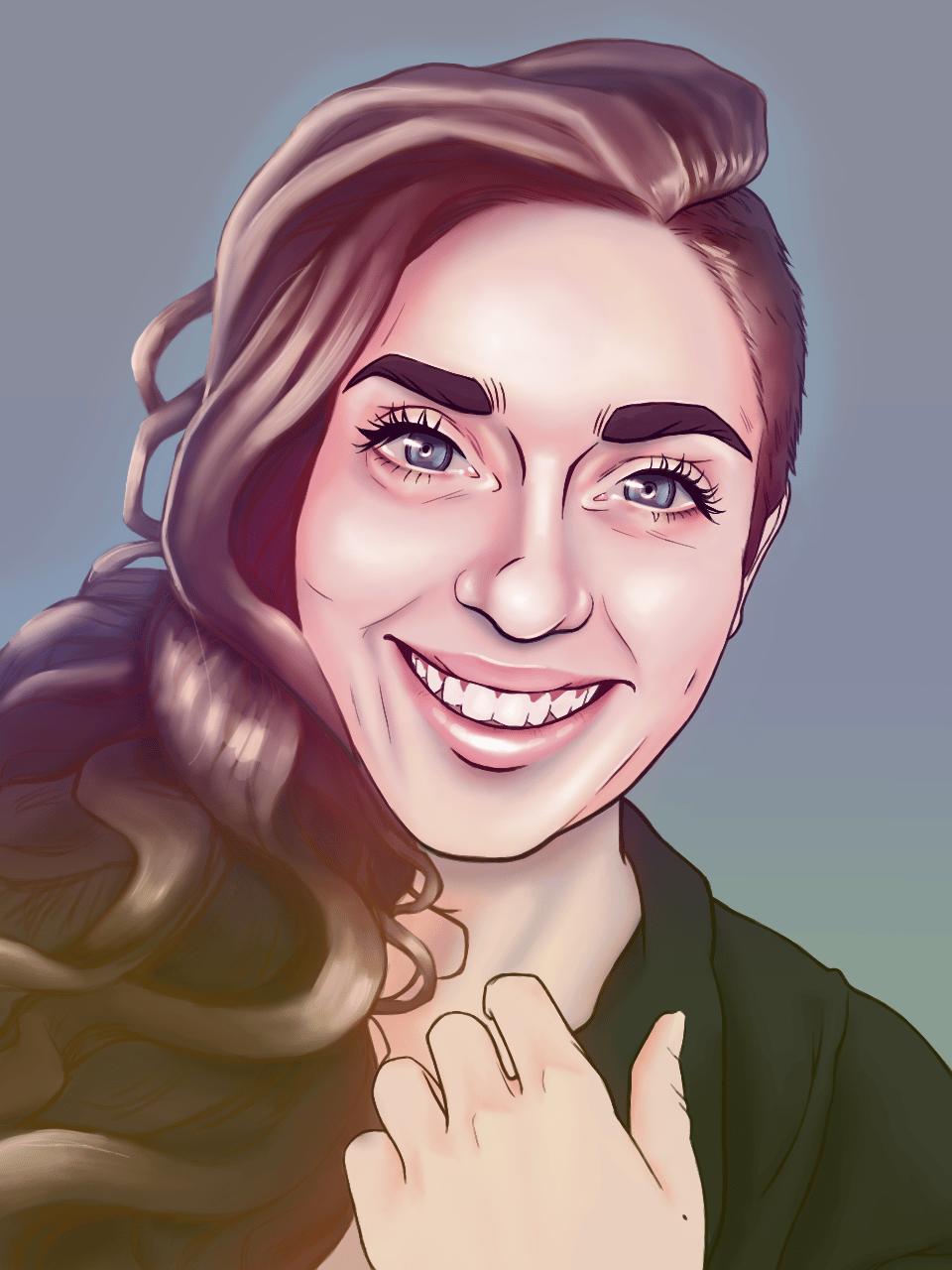 Stylised Portrait - image 1 - student project
