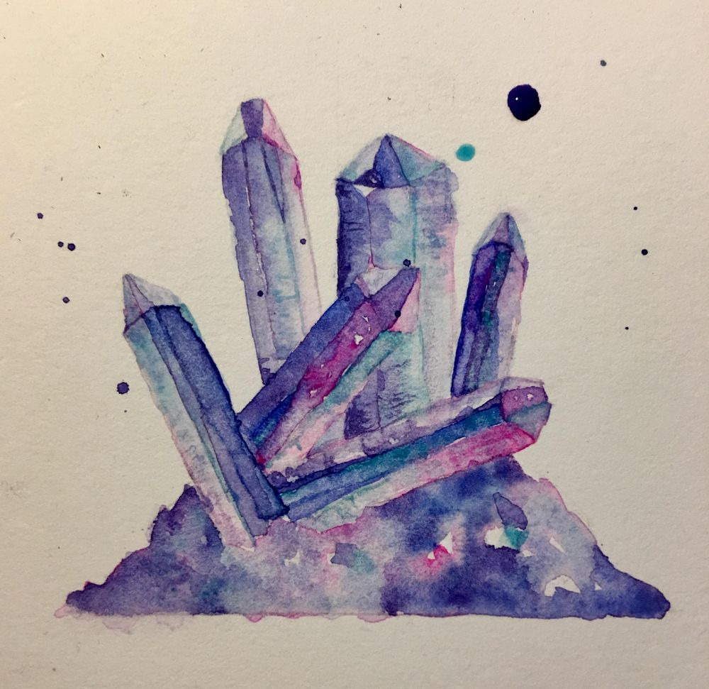 Watercolour Crystal Assignment - image 1 - student project