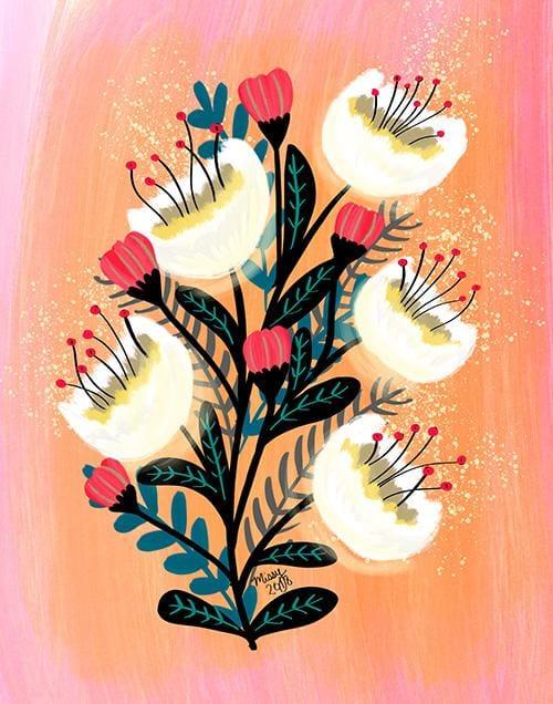 Modern Gouache Floral Bouquet - image 1 - student project