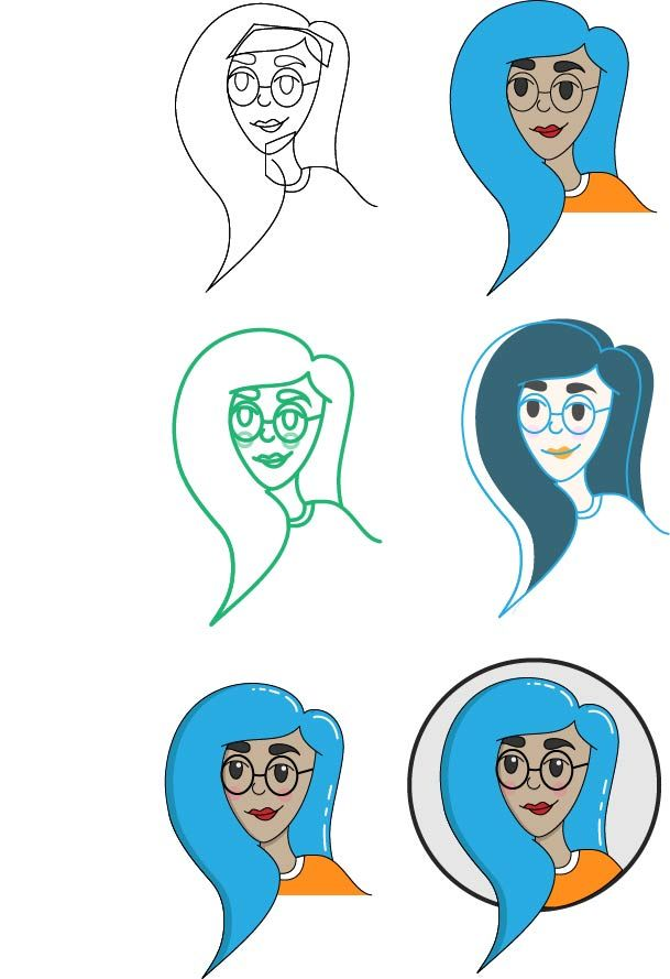 My first avatar/illustrator work! - image 1 - student project