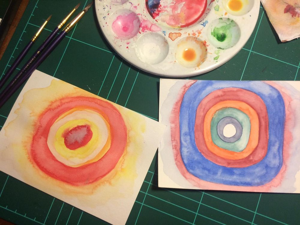 Watercolor Kandinsky - image 2 - student project