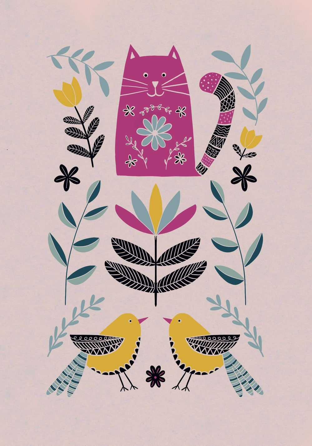 Folk art illustrations - image 1 - student project