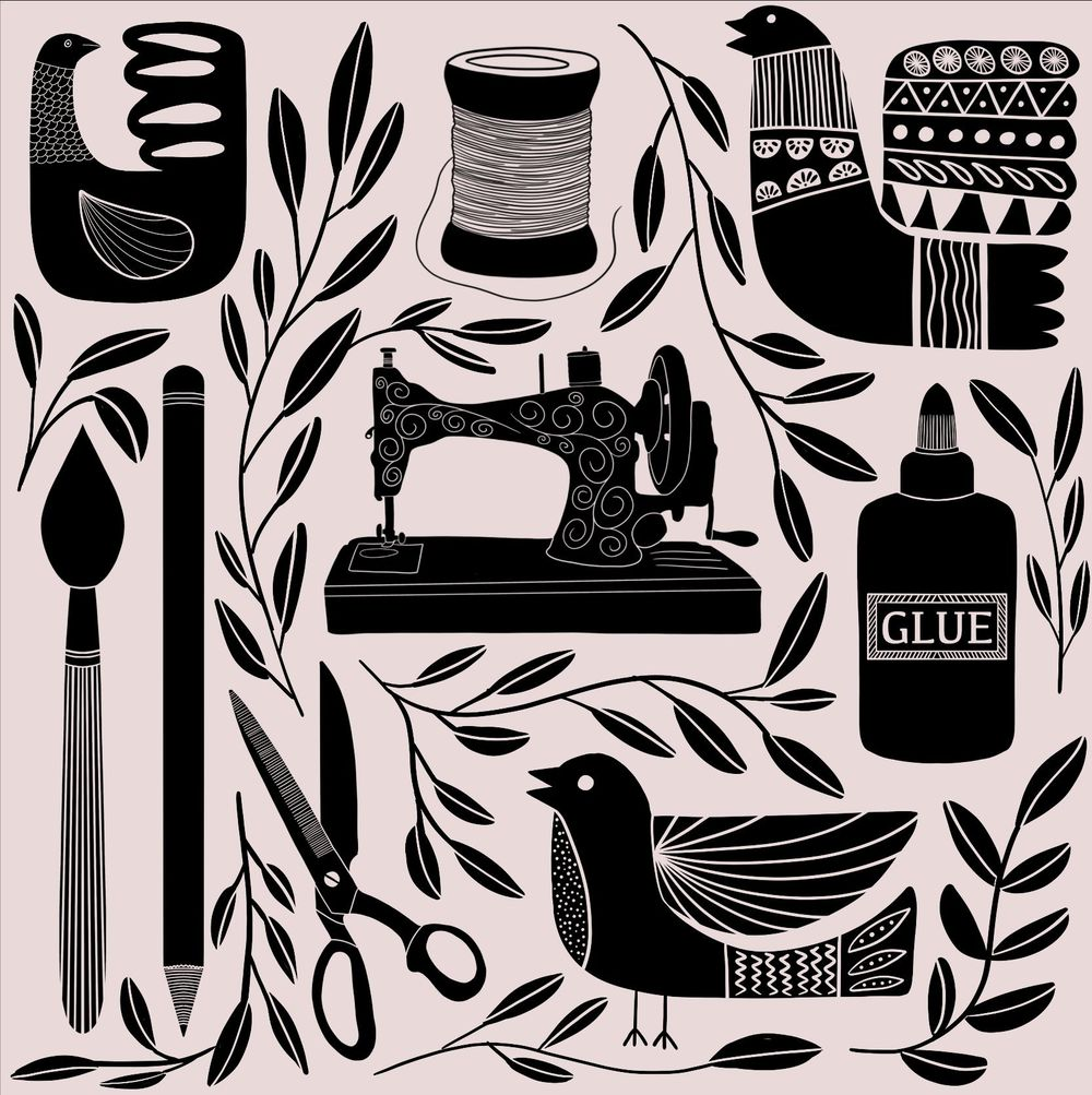 Folk art illustrations - image 7 - student project