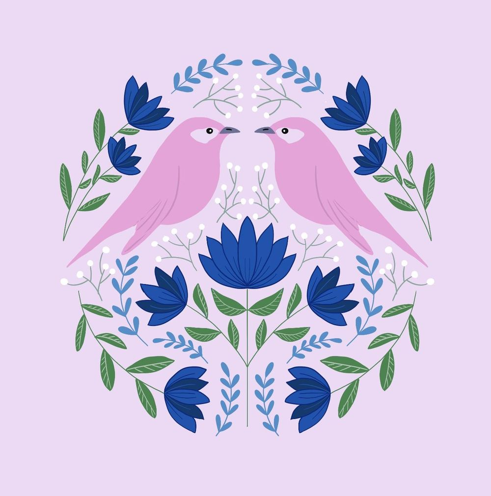 Folk art illustrations - image 4 - student project