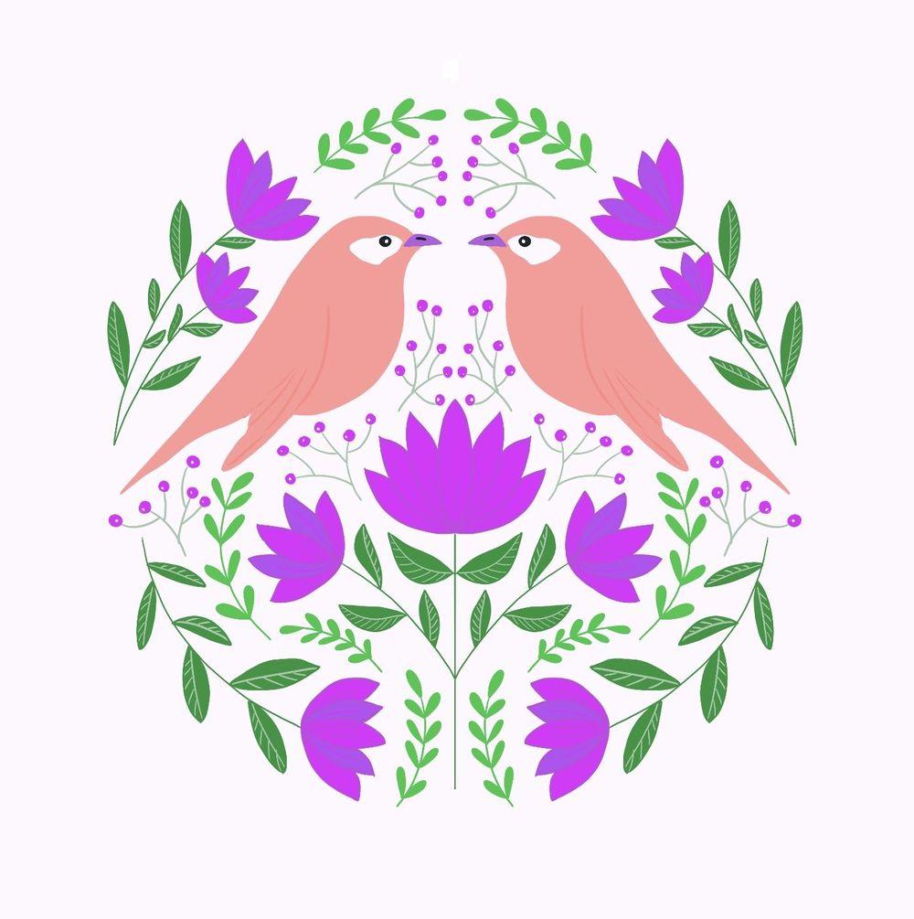 Folk art illustrations - image 5 - student project