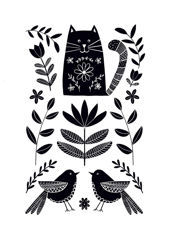 Folk art illustrations - image 2 - student project