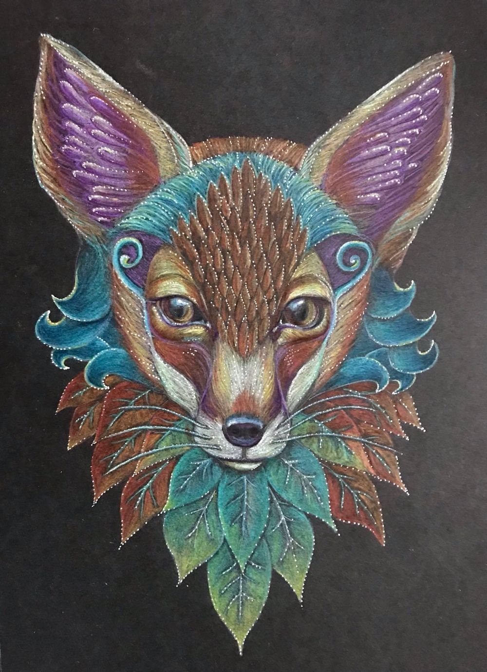 Little colourful fox - image 1 - student project