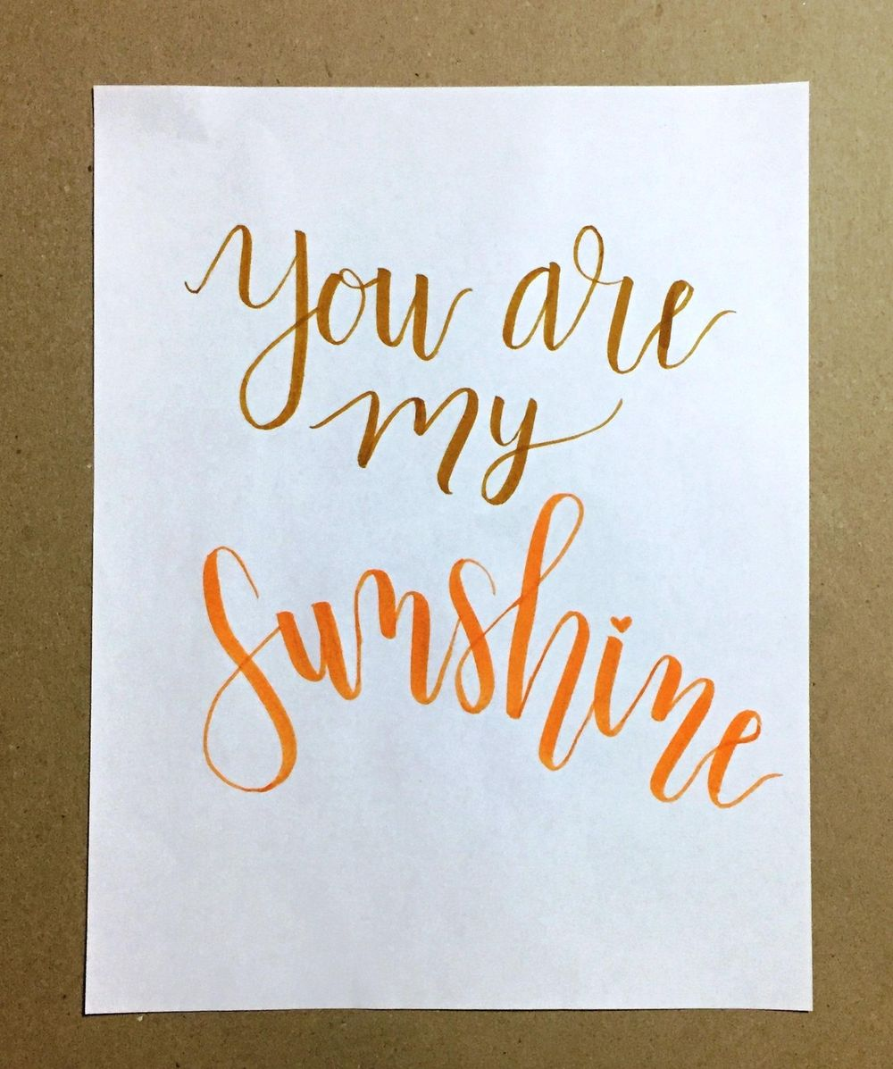 Brush Lettering - image 1 - student project
