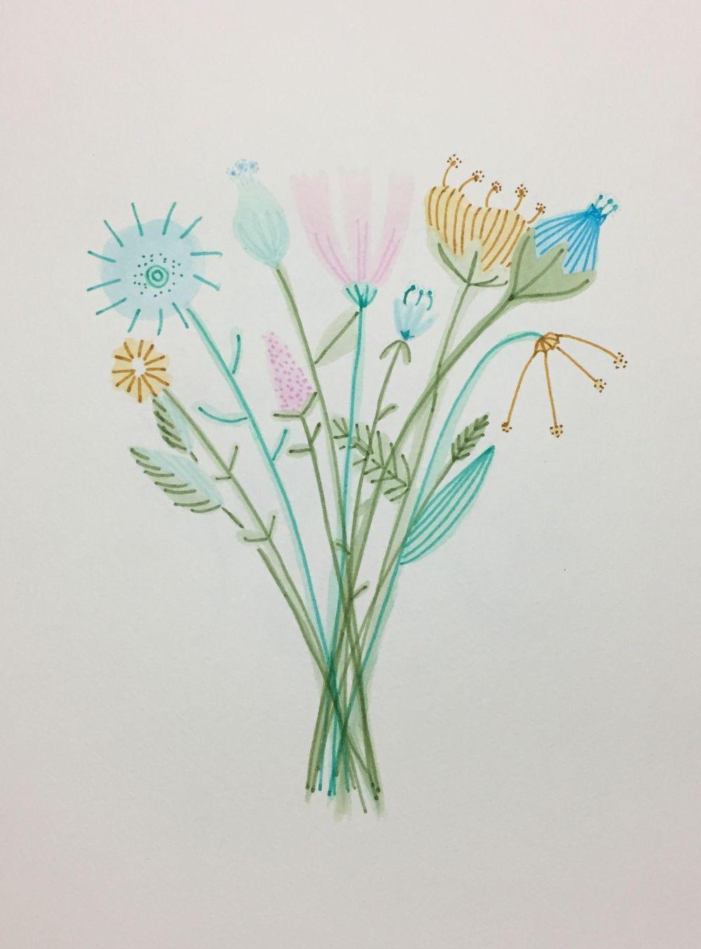 Expressive Brush Pen Florals - image 1 - student project