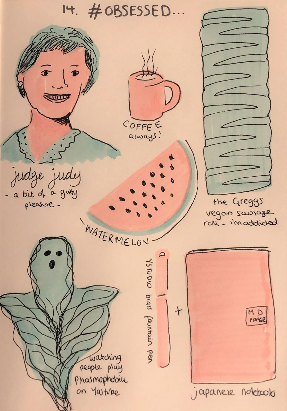 Daily Illustrated Journaling Prompts - image 1 - student project